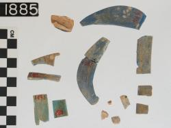 glass fragments ( 14); Sedment; Glass vessels; Glass; undecorated