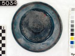Glass Bowl on Stem; Fayoum; Glass vessels; Glass; undecorated