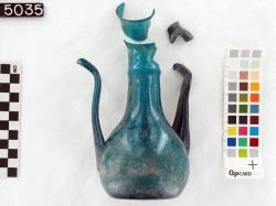 Glass Flask (3 pieces); Fayoum; Glass vessels; Glass; undecorated
