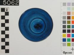 Blue glass cup; Fayoum; Glass vessels; Glass; undecorated
