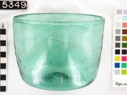 Bowl; Glass vessels; Glass; undecorated