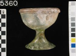 Goblet; Glass vessels; Glass