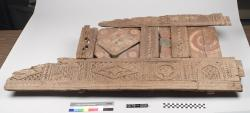 Relief Panel; Cairo; Architectural elements; Paint; Wood