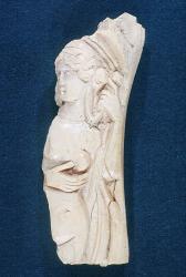 relief sculpture fragment; Relief sculpture; Bone (Unidentified); Aphrodite