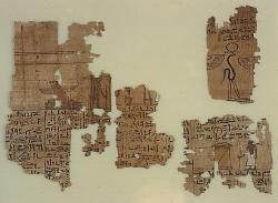 papyrus page; Papyri; Papyrus; Pigment; Ink