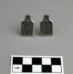 Pins (pair); silver collar insignia, Jewish chaplain, U.S. Army