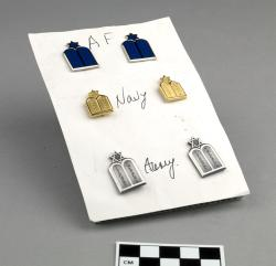 Pins (3 pairs); collar insignia, Jewish chaplain, U.S. Army, U.S. Navy, and U.S. Air Force