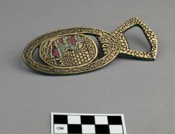 Bottle opener; brass, 4.75