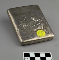Cigarette case; sterling silver, 4
