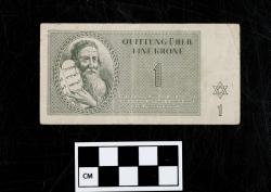 Quittung note (currency); paper, 1 Krone