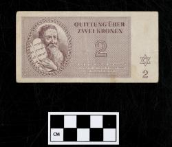 Quittung note (currency); paper, 2 Kronen