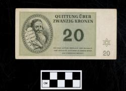 Quittung note (currency); paper, 20 Kronen