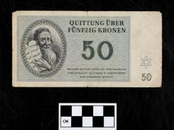 Quittung note (currency); paper, 50 Kronen