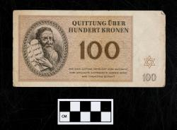 Quittung note (currency); paper, 100 Kronen