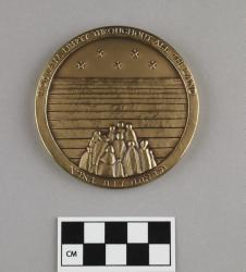 Commemorative medal; marked