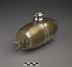 Wine server shaped like a barrel; sterling silver, 8.5