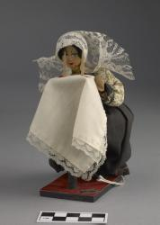 Figurine; wooden with cloth, 6