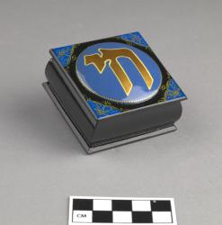 Cloisonne Box; wood, 2.5