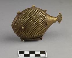 Besamim container (spice box); bronze, 5