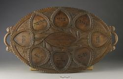 Tray for Passover; wooden, 23
