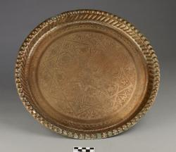 Serving tray; copper, 16.5