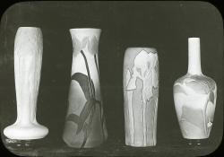 Four art nouveau vases