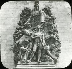 Bas relief sculpture on Arc de Triomphe