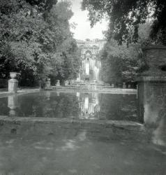 Villa d'Este Gardens in city of Tivoli