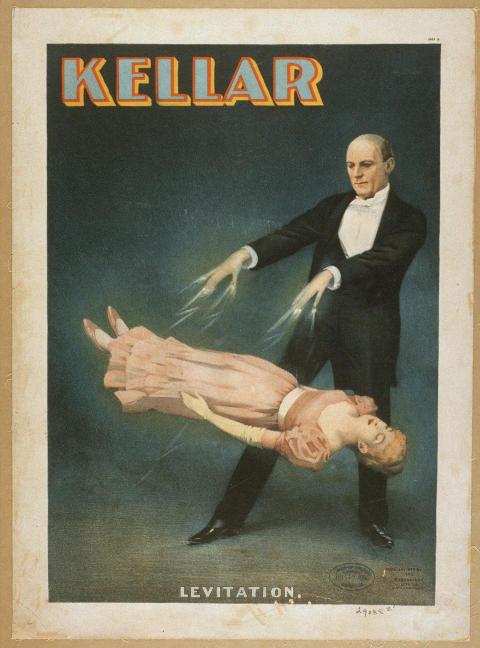 "Fig 8.3: Kellar lithograph. ""Levitation"" Kellar poster. Strobridge Lith. Co., ca. 1894."