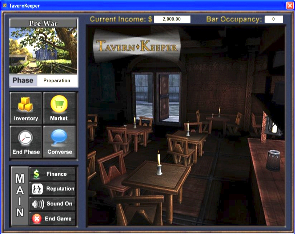 Fig 13.2: Tavern Keeper. Screenshot courtesy of the authors.