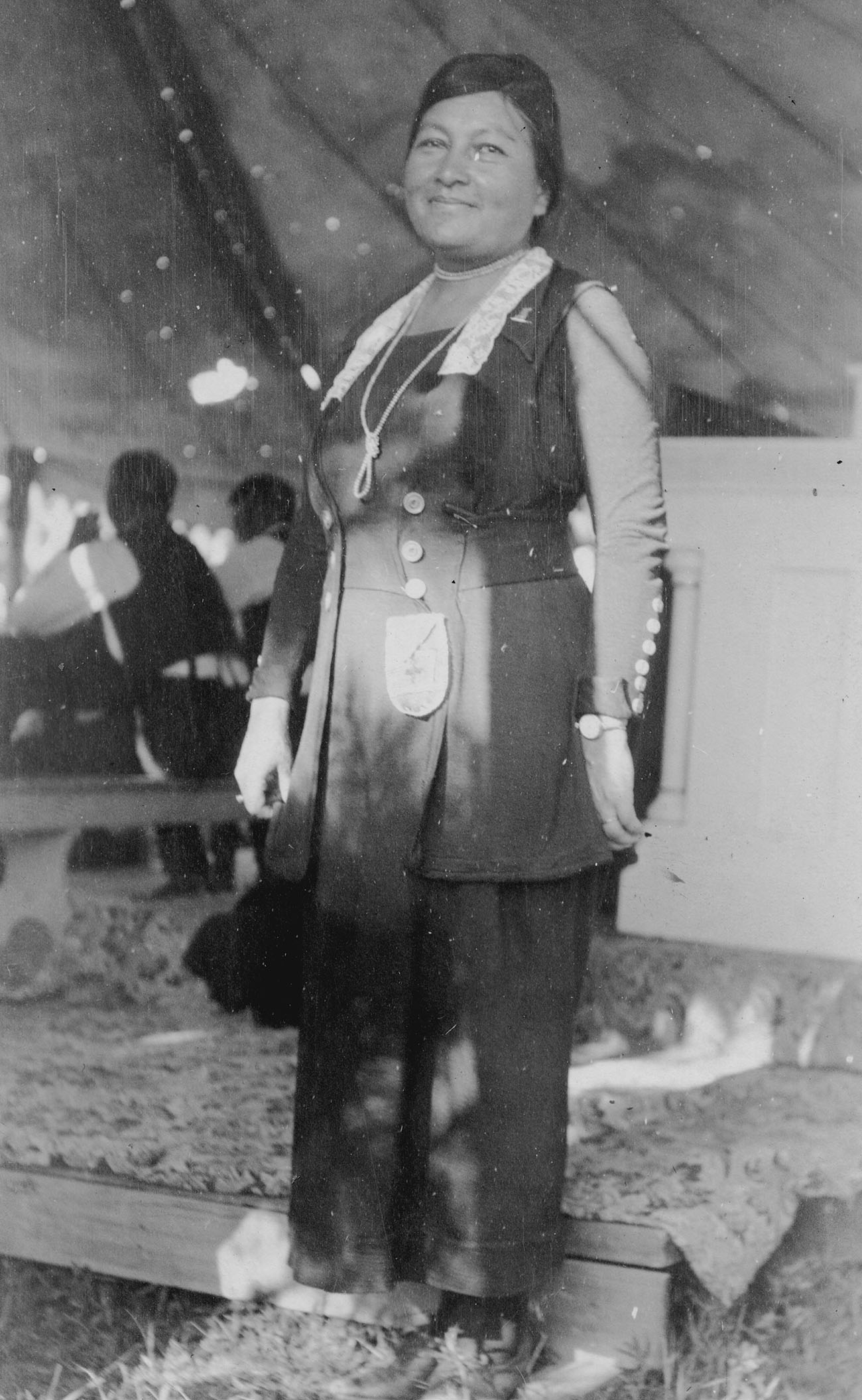 Figure 5.1. Gertrude Simmons Bonnin as a speaker at the Catholic Sioux Congress, Holy Rosary Mission, South Dakota, Pine Ridge Reservation, 1920. Courtesy of the Marquette University Archives, Bureau of Catholic Indian Missions Records, ID (BCIM) 00684.