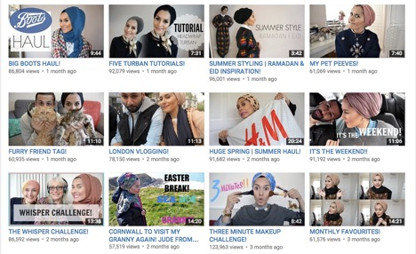 Figure 2. Screen shots of Dina's recent videos