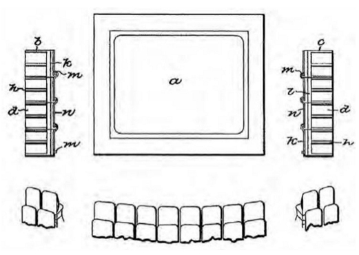 Fig. 2: Thomas' patented design for screen-adjacent advertising.