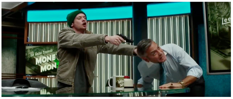 Figure 3. In Money Monster, George Clooney's character again finds himself in peril.