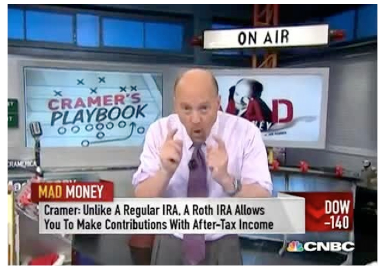 Figure 6.  Real-life TV star Jim Cramer on his show, Mad Money.