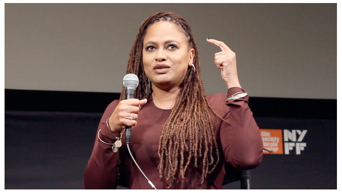 Fig. 4: Ava DuVernay discussing her film 13th at the NYFF press conference.