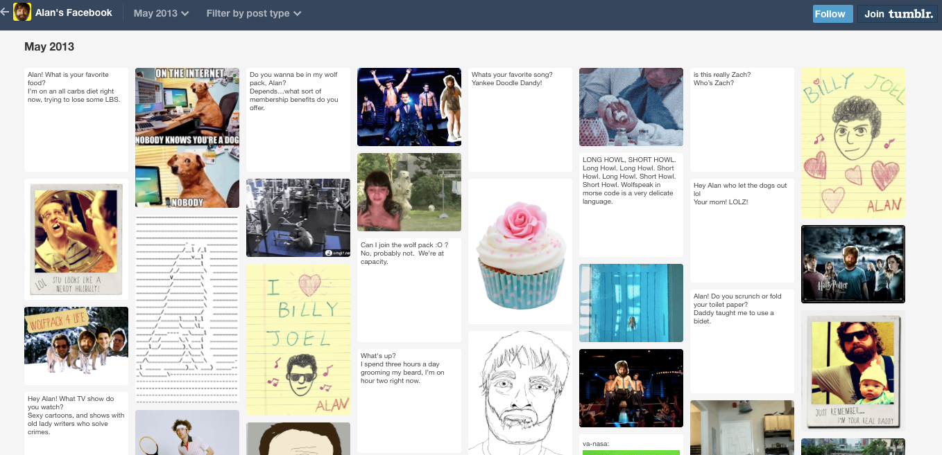 "Figure 3. The Tumblr page ""Alan's Facebook."""
