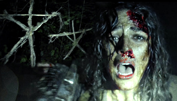 Figure 2: A character struggles to survive in the woods.