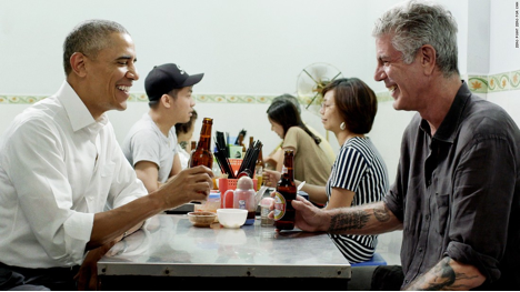Figure 2.: Bourdain, and someone else of note, in Vietnam