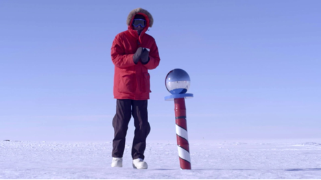 Figure 3.: Move over, Amundsen: Bourdain at the South Pole