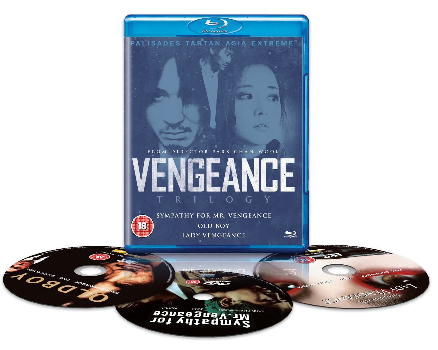 Figure 4: Park Chan-wook's Vengeance Trilogy on Tartan Asia Extreme Blu-ray