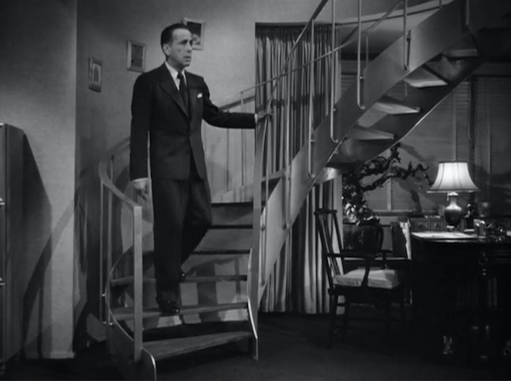 Figure 14. Bogart finally makes his celebrity entrance into the film, in keeping with expectations.