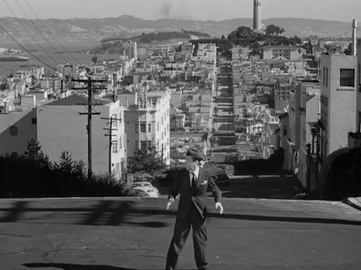 Figure 26. Bogart the celebrity artist on location in San Francisco, Coit Tower in the background.