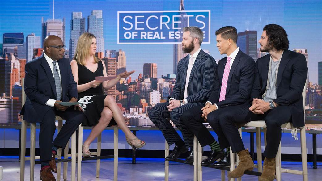 Figure 1: Al Roker, Jenna Bush Hagar, and the relators of Million Dollar Listing: New York City on NBC's The Today Show
