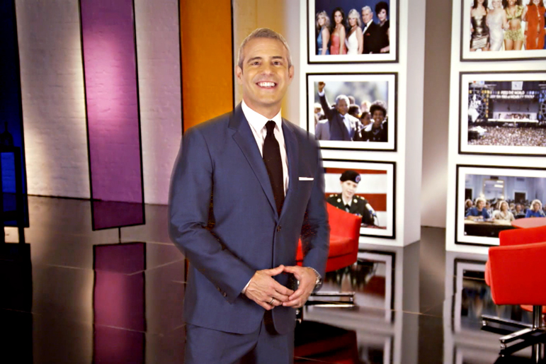 Fig. 2: On the Set of Andy Cohen's Then and Now