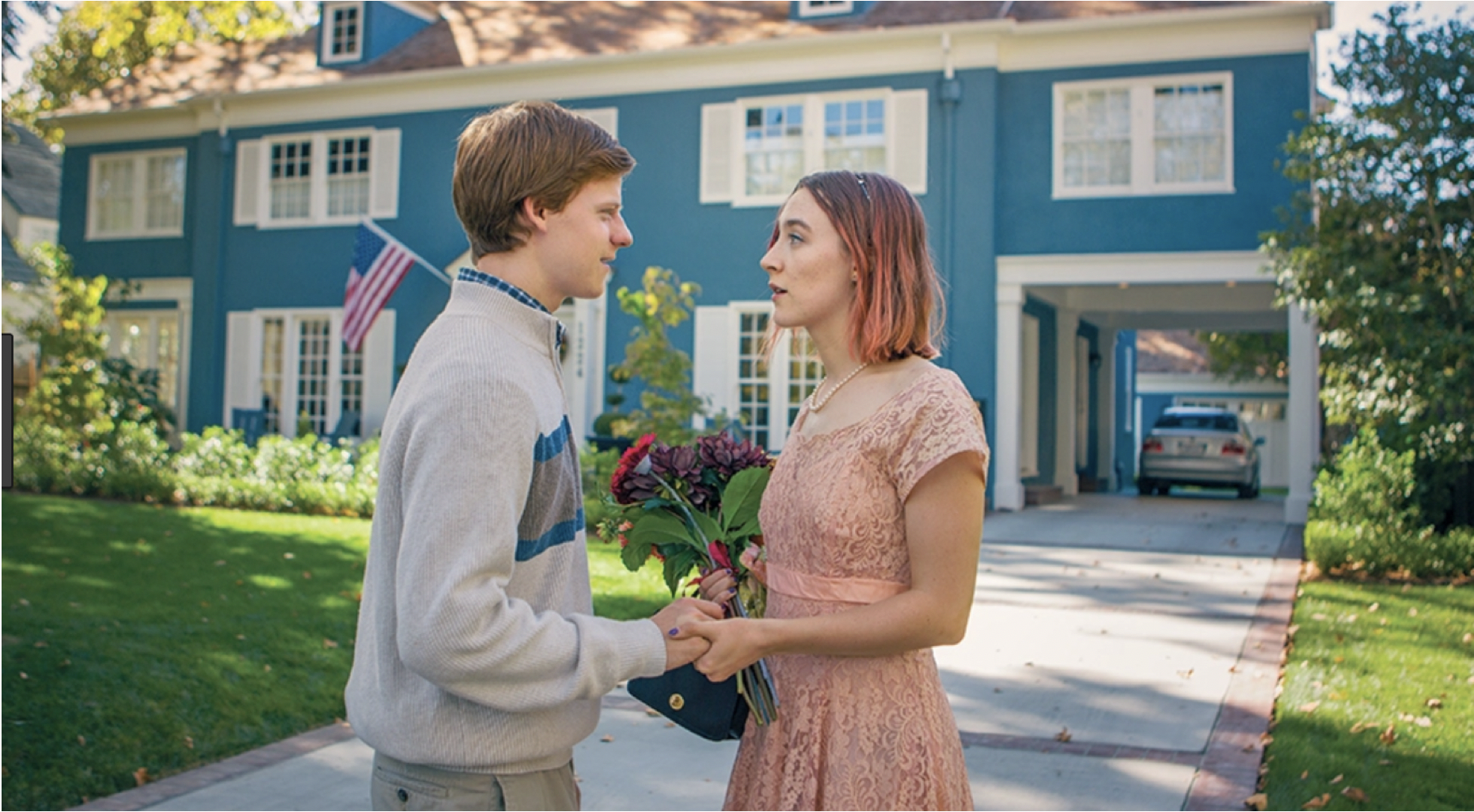 Figure 2.: Lady Bird (Saoirse Ronan) attempts to jump to the right side of the tracks.
