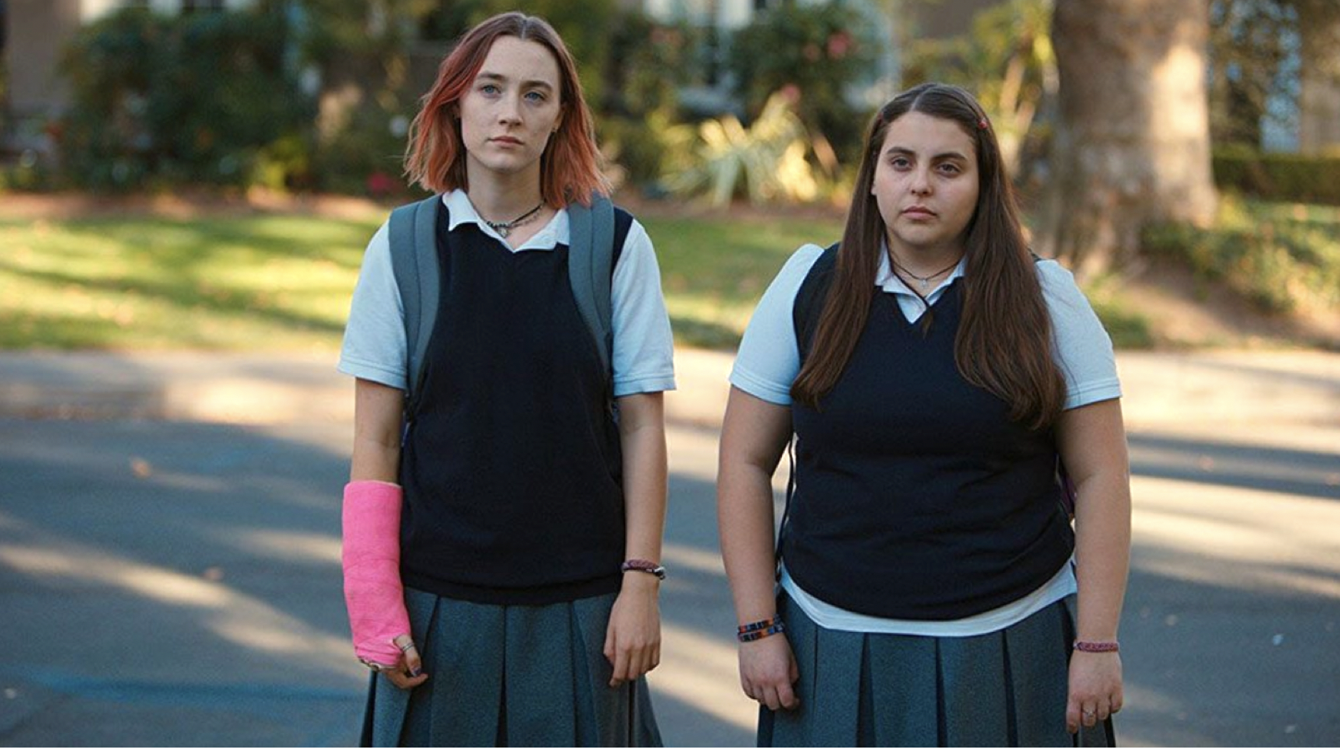 Figure 3.: Lady Bird's ambitions cause her to leave behind long-time friend Julie (Beanie Feldstein).