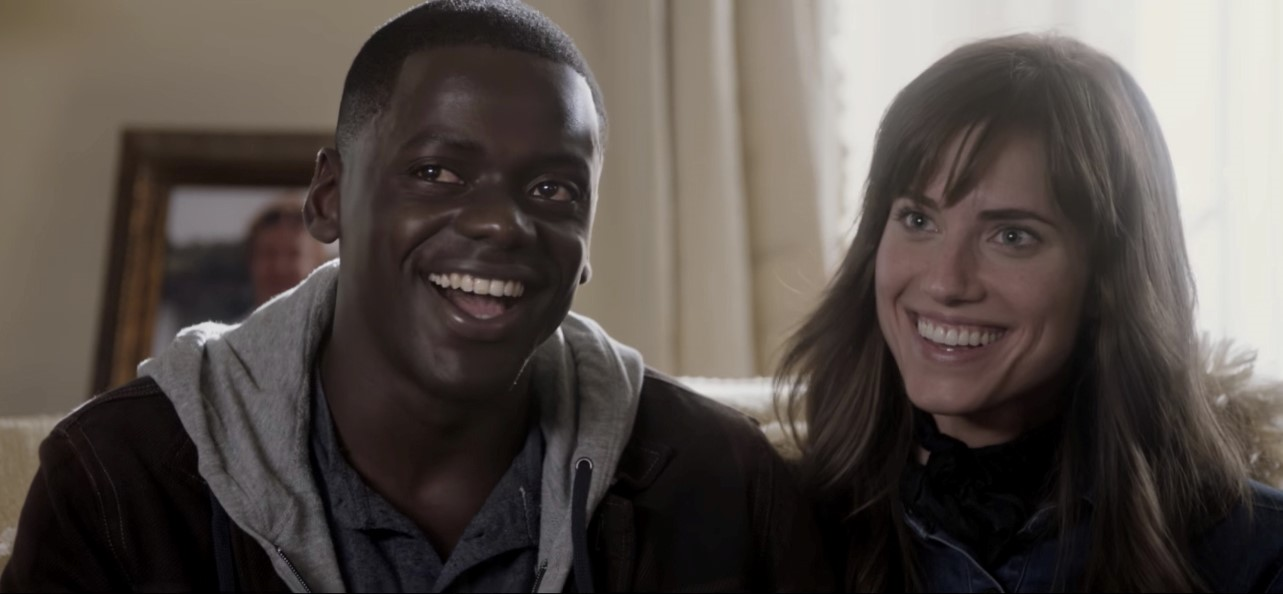Figure 1.: Chris (Daniel Kaluuya) and Rose (Allison Williams) in Jordan Peele's Get Out (2017).