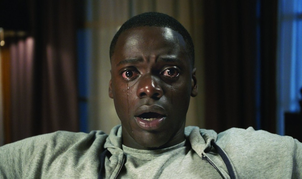 Figure 3.: Chris being hypnotized by Rose's mother Missy, a shot often used for Get Out's promotional material.