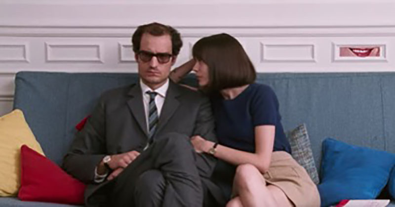 Louis Garrel and Stacy Martin in Godard, Mon Amour